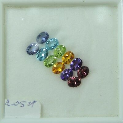 Lots 2.04ct Fancy purple green yellow blue red mixed color gemstones  new 100%