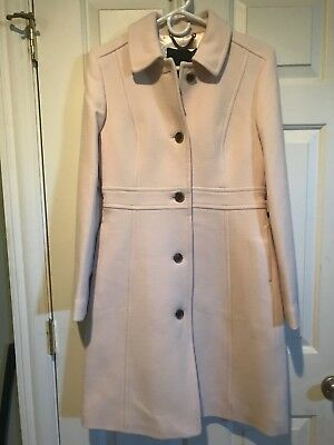 J Crew Double Cloth Lady Day Coat Thinsulate Wool Blend Size 6