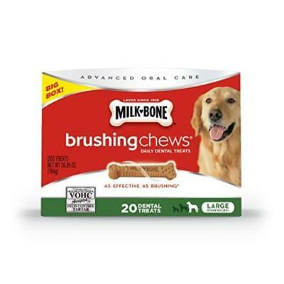 Milk-Bone Brushing Chews Daily Dental Dog Treats Large/26.95 Oz Pet Strong New
