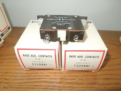 2- Cutler-Hammer C320KB1 Auxiliary Contact 1 N.O. for Size 0/1 Citation Series