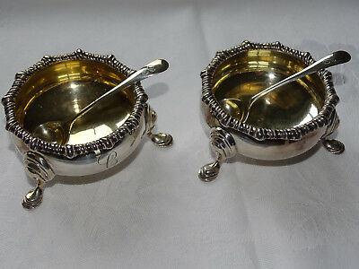 Antique' Vintage Salt Cellars & 2 Spoons