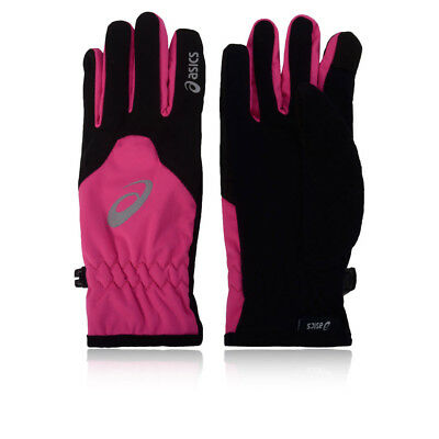 Asics Mens Winter Womens Running Gloves Black Pink Sports Warm Breathable