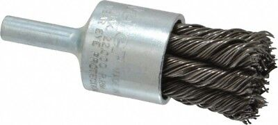 "Weiler 3/4"" Diam Knotted End Brush 1/4"" Shank Diam, 22,000 Max RPM"