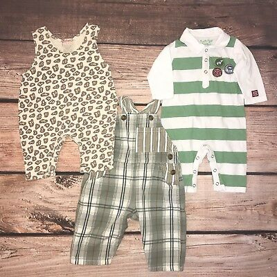 Baby Boy 0-3 Months Lot Of Baby Gap, Zutano Naartjie One Piece Outfits Overalls