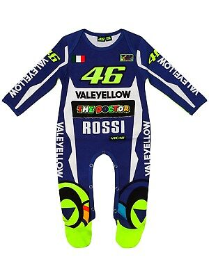 Valentino Rossi Blue Overall Sponsor Baby Grow