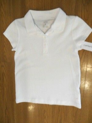 NEW CARTER/'S GIRLS APPROVED SCHOOL UNIFORM WHITE SHORT SLEEVE POLO SIZE 2T 4T