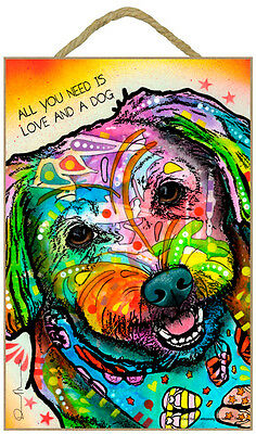 Maltese All You Need Is Love And A Dog Dean Russo Dog Wood Plaque Sign