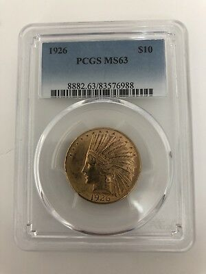 1926  $10 Gold Indian  PCGS  MS63