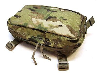 "ARMY OCP MULTICAM GENERAL PURPOSE MOLLE POUCH HORIZONTAL DUAL ZIPPER 9""x4.5"""