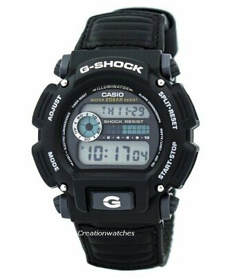 Casio Men's G-Shock Digital Quartz Canvas Strap Grey Watch DW-9052V-1CR