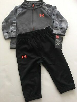 Under Armour Boys 18M Roster Hoodie Tracksuit Jacket Pant Combo Graphite//Black