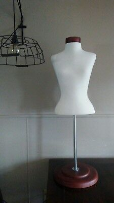 Half Body Torso Female Dress Form Mannequin with adjustable Wood Stand 41 inches