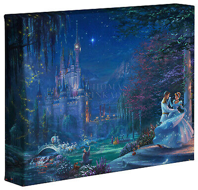 Thomas Kinkade Studios Disney Cinderella Dancing in the Starlight 8 x 10 Wrap