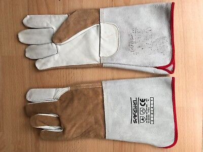 2 x Leather Tig Welding / Gardening / Gardeners / Work / Safety Gloves XL