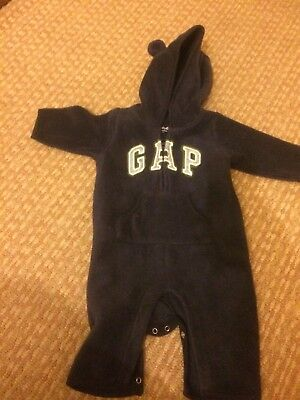 Baby Gap 0-3 Months All In One Suit Boys Navy Blue
