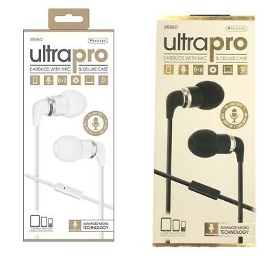 Sentry Ultra Pro Metal Earbuds With Mic & Deluxe Case for Phones Laptop Tablets
