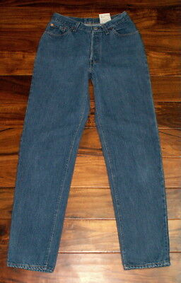 Women Vintage Levis 501 Jeans 24 25 USA rare  Dark Wash high waisted Button Fly