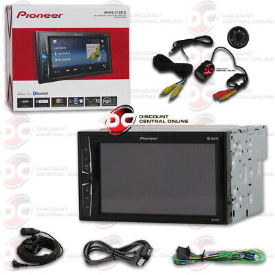 "Pioneer Mvh-210Ex 2-Din 6.2"" Usb Digital Media Bluetooth Stereo Free Rear Camera"