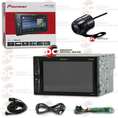 "Pioneer Mvh-210Ex 6.2"" Usb Digital Media Bluetooth Stereo Free 170° Rear Camera"