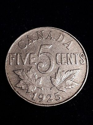 1925 Canada 5 Cents. Key Date.