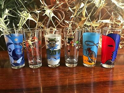 Ritzenhoff Frosted Glass, 6 Different Decors SET NR 4