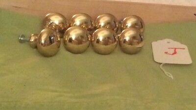 Vintage Brass Drawer Knobs Pulls Cabinet Pulls Handles. Lot Of 8  Heavy!  #J.