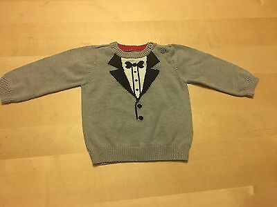 The Children's Place Tuxedo Image Sweater, Grey Pullover, 9-12 Months, Adorable