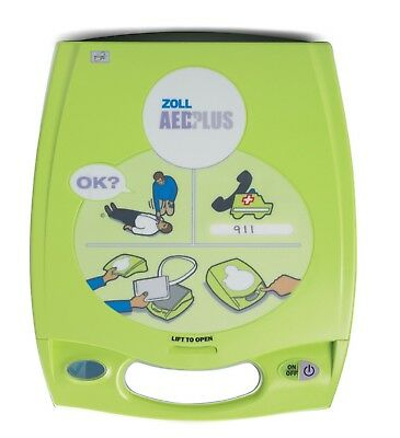New 2017 Zoll AED Plus Defibrillator Sealed 2022 CPR-D Pads 6 Year Warranty