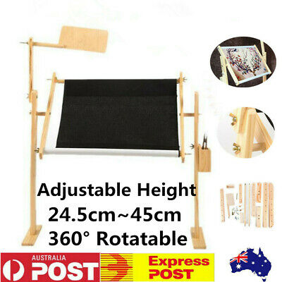 50cm Needlework Stand  Lap Table Wood Embroidery Frame Cross Stitch Sewing Tool