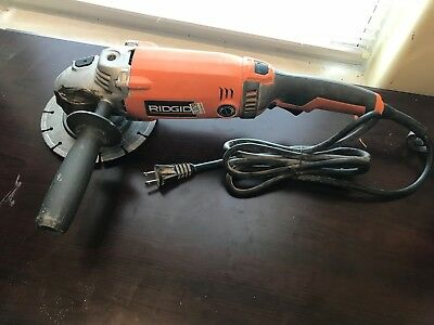 "Rigid R1020 Corded Electric 7"" Angle Grinder"