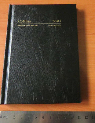 Diary Financial Year 2018/19 Collins A6 Pocket Week View Opening Hardcover BLACK