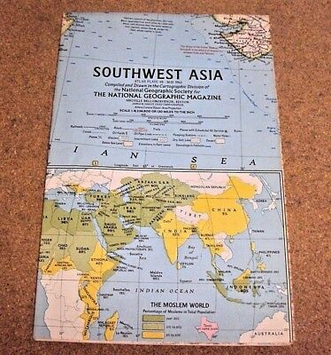 NATIONAL GEOGRAPHIC MAY 1963 With Map Of Southwest Asia - $5.00 ...