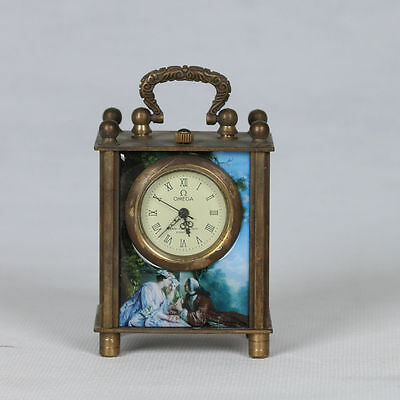 Collectible Old Chinese cloisonne Handwork Mechanical Table Clock CSY348