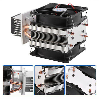 12V 6A Thermoelectric Peltier Refrigeration Cooling System Kit Cooler Fan 72W