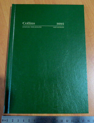 Diary FINANCIAL YEAR 2018/19 Collins 38M4 A5 Week To View Hardcover GREEN