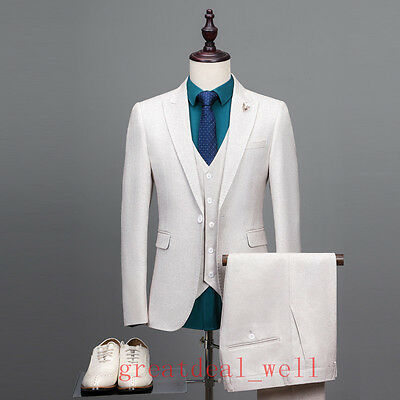 SLIM FIT BLUE Groomsmen Suits Men Wedding Suits Groom Tuxedos Formal ...