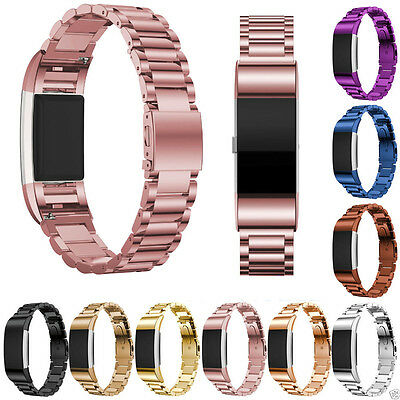 XMAS Stainless Steel Replacement Wrist Watch Bands Straps For Fitbit Charge 2 UK
