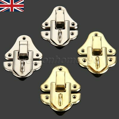 35 * 48MM Antique Chests Buckle Wooden Box Latch Clasp Clip Hasps Gold Silver UK