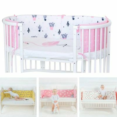 Baby Bed Bumper Toddler Newborn Crib Cot Soft Cotton Nursery Bedding Protection