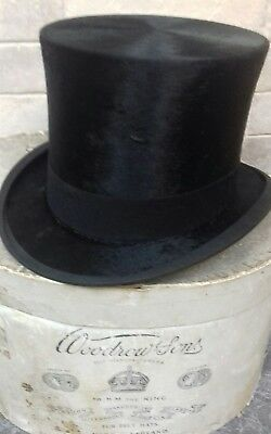 Vintage black silk top hat christy's london