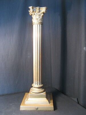 MASSIVE AND MAGNIFICENT ORIGINAL COLUMN BASE  for an OIL LAMP