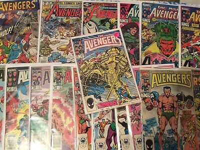 Avengers #257 and Lot Of 18 copper age issues