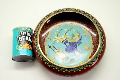 """Very Large (10 1/4"""") Chinese Cloisonne Scholars Brush Washer Excellent Cond."""