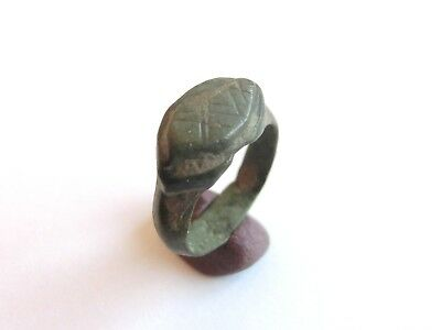 Scarce Ancient CELTIC Bronze Children's Finger Ring > La Tene Culture 300BC