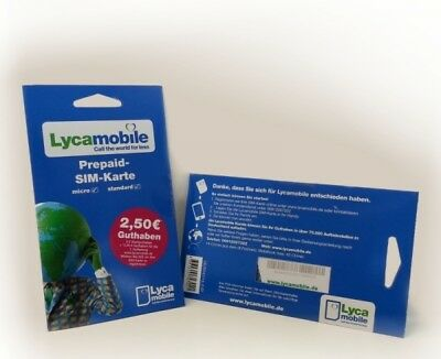 1X LYCAMOBILE PREPAID Card ✔Vodafone✔Eriple Sim ✔abroad✔ Inexpensive