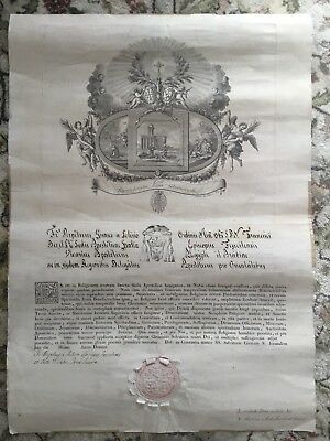 Antique Catholic Manuscript Franciscan Order Holy Sepulcher Italy Jerusalem