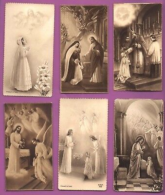 OLD HOLY CARDS Christian COLLECTION RARE ITALY antique  GIRLS