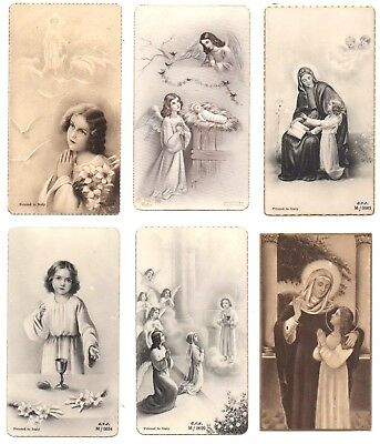 OLD HOLY CARDS Christian COLLECTION RARE ITALY antique