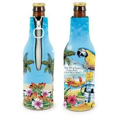 2 Buffett Kolder Coozie A DAY ON VACATION 1ST QUALITY KOOZIE MARGARITAVILLE