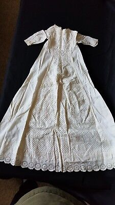 Antique Christening Gowns, Slips, Matching Cape and Bonnet